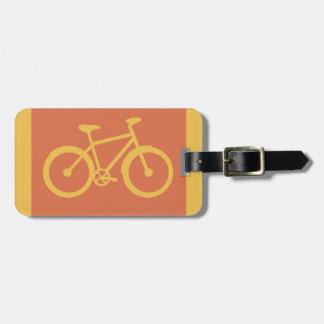 Gráfico de ciclo de la bici de la bicicleta etiquetas para equipaje