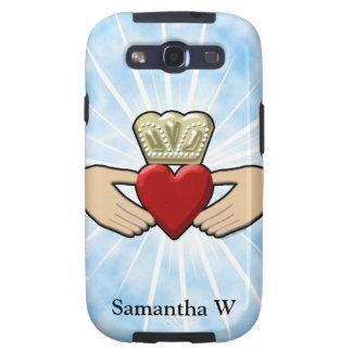 Gráfico de Claddagh con el corazón rojo Samsung Galaxy S3 Fundas