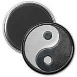 Gráfico de cuero y de acero de Yin Yang del efecto Imán