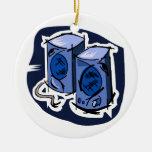 Gráfico de dos altavoces, versión azul ornamentos de reyes magos