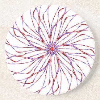 Gráfico de encaje purpúreo claro espiral del diseñ posavasos personalizados