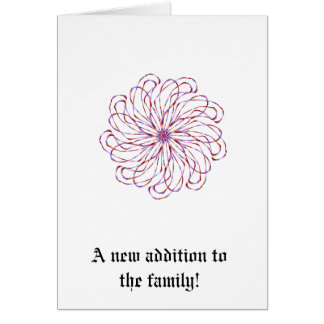 Gráfico de encaje purpúreo claro espiral del tarjeta de felicitación