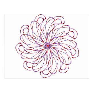 Gráfico de encaje purpúreo claro espiral del tarjetas postales