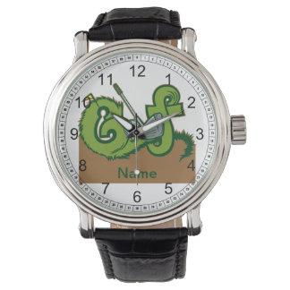 Gráfico de encargo del golf relojes de pulsera
