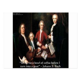 Gráfico de JS Bach y regalos y tarjetas divertidos Postal