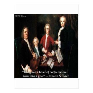 Gráfico de JS Bach y regalos y tarjetas divertidos Tarjetas Postales