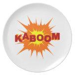 Gráfico de Kaboom Platos Para Fiestas