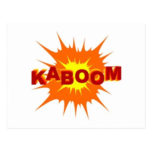 Gráfico de Kaboom Tarjetas Postales