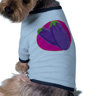 Gráfico de la berenjena camiseta de perrito