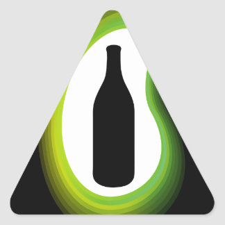 Gráfico de la botella para simbolizar la celebraci colcomanias triangulo