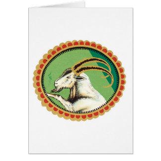 Gráfico de la cabra de montaña tarjeta de felicitación