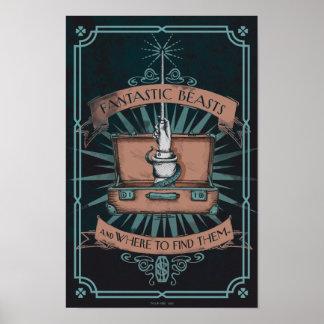 Gráfico de la cartera del Newt fantástico de las Póster