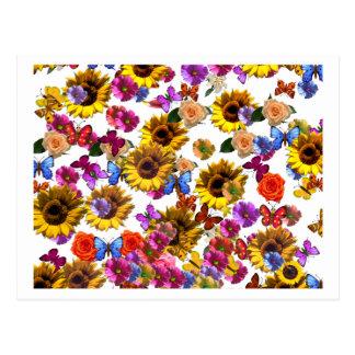 Gráfico de la cobertura total de las mariposas y d postales