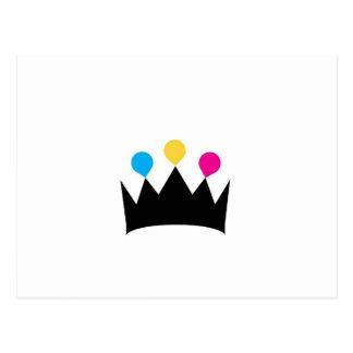 Gráfico de la corona de CMYK Postal