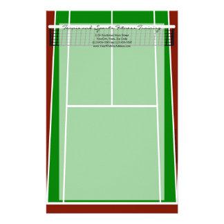 Gráfico de la disposición del campo de tenis  papeleria