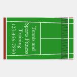 Gráfico de la disposición del campo de tenis rectangular pegatinas