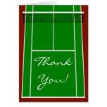 Gráfico de la disposición del campo de tenis tarjeton