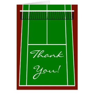 Gráfico de la disposición del campo de tenis tarjeta pequeña