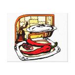 Gráfico de la escena de la cocina de la amoladora  impresiones en lienzo estiradas