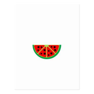 gráfico de la fruta de la sandía postal