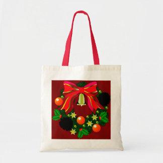 Gráfico de la guirnalda del navidad bolsas lienzo
