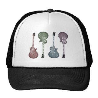 Gráfico de la guitarra gorras de camionero