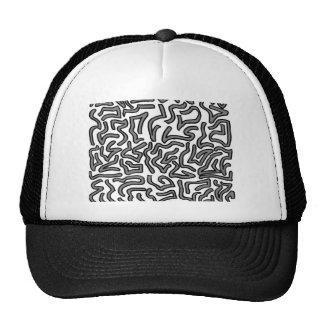 Gráfico de la imagen del doodle del ruido gris y b gorras de camionero