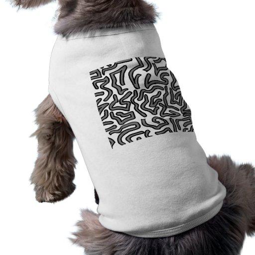 Gráfico de la imagen del doodle del ruido gris y b ropa de mascota