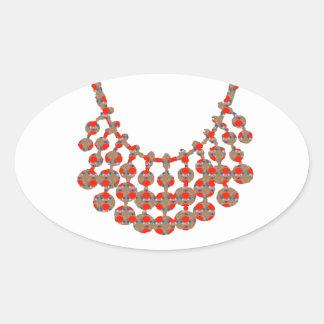 Gráfico de la joya del COLLAR en los REGALOS por Pegatina Ovalada