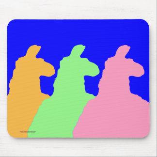 Gráfico de la llama: 3 llamas naranja, verde, rosa alfombrillas de raton