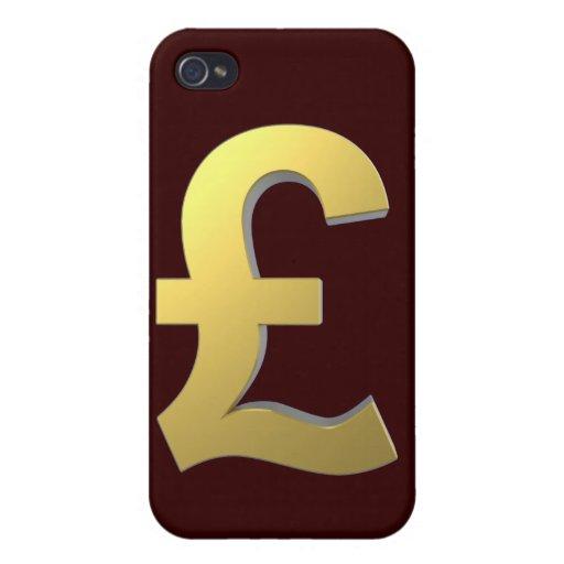 Gráfico de la muestra de la libra del oro iPhone 4 protectores