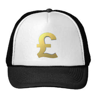 Gráfico de la muestra de la libra del oro gorras