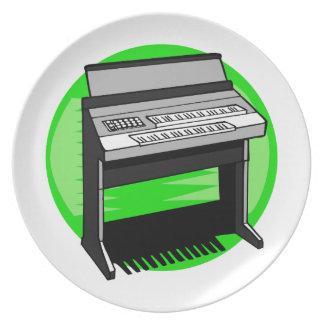 Gráfico de la música de fondo del verde del órgano platos de comidas