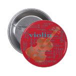 gráfico de la nube de la palabra del violín desing pin