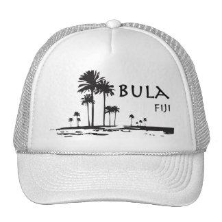 Gráfico de la palmera de Bula Fiji Gorro De Camionero