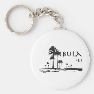 Gráfico de la palmera de Bula Fiji Llavero Redondo Tipo Pin