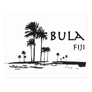 Gráfico de la palmera de Bula Fiji Tarjeta Postal
