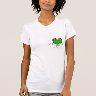 gráfico de la pimienta rellena camisetas