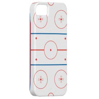 gráfico de la pista de hockey sobre hielo iPhone 5 funda