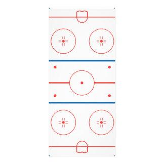 gráfico de la pista de hockey sobre hielo tarjetas publicitarias a todo color