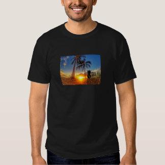 Gráfico de la puesta del sol camisas