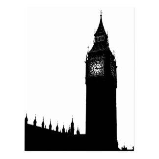 Gráfico de la silueta de Big Ben Londres Tarjetas Postales