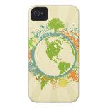Gráfico de la tierra iPhone 4 Case-Mate cobertura