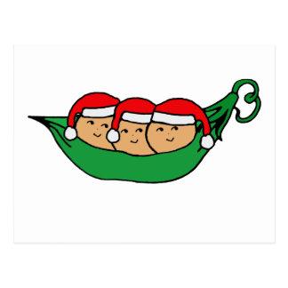Gráfico de la vaina del navidad de los tríos postal