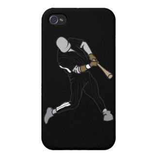 gráfico de las azufaifas del béisbol iPhone 4/4S carcasa