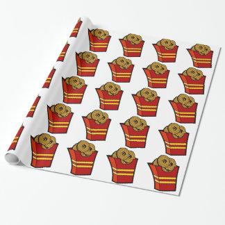 Gráfico de los alimentos de preparación rápida de papel de regalo