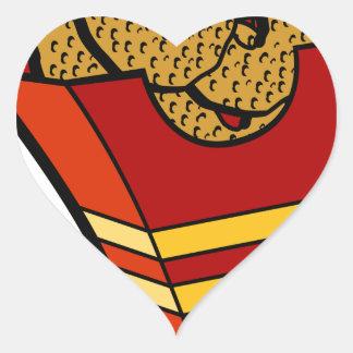 Gráfico de los alimentos de preparación rápida de pegatina en forma de corazón