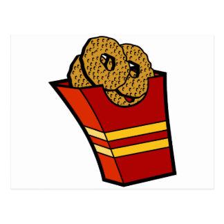 Gráfico de los alimentos de preparación rápida de postales