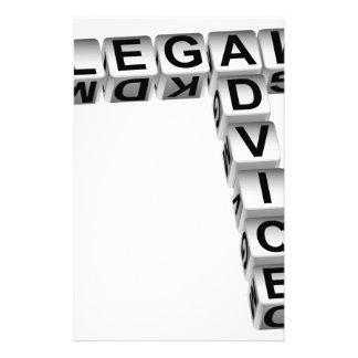 Gráfico de los dados del asesoramiento jurídico papelería de diseño