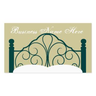 Gráfico de lujo del marco de la cama con las tarjeta personal